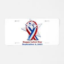Labor Day 2011 Aluminum License Plate