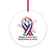 Labor Day 2011 Ornament (Round)