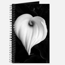 Black and White Calla Lily Journal