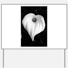 Black and White Calla Lily Yard Sign