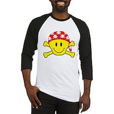 Smiley Face Skull Baseball Jersey