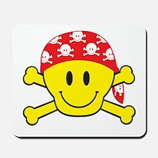 Smiley Face Skull Mousepad