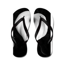 Black and White Calla Lily Flip Flops