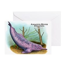 Amazon River Dolphin Greeting Card