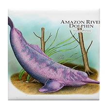 Amazon River Dolphin Tile Coaster