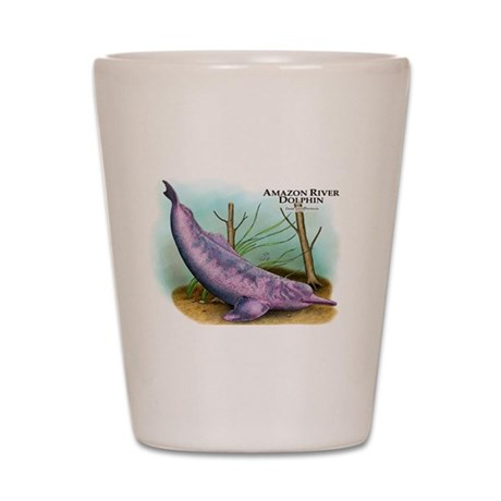 Amazon River Dolphin Shot Glass