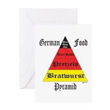 German Food Pyramid Greeting Card