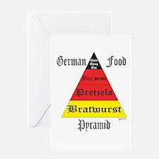 German Food Pyramid Greeting Card
