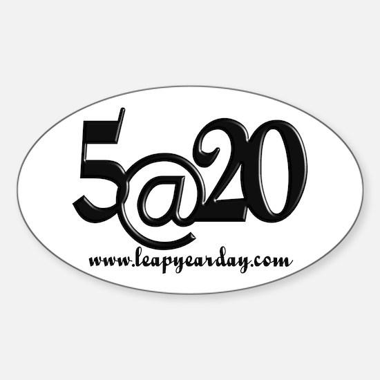 5@20 Sticker (Oval)