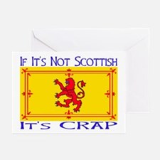 NOT SCOTTISH IT'S CRAP Greeting Cards (Package of