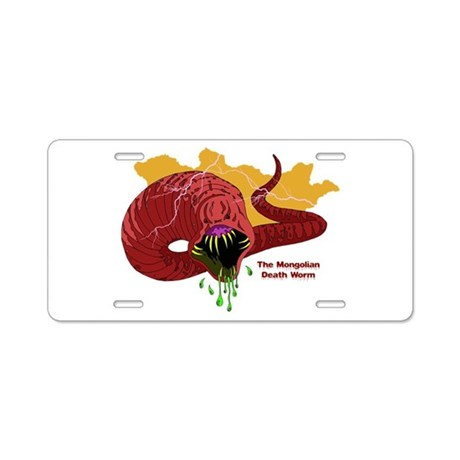 Mongolian Death Worm Aluminum License Plate by ...