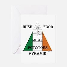 Irish Food Pyramid Greeting Card