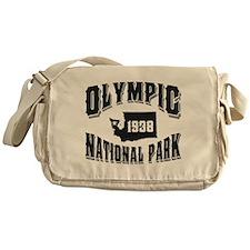 Olympic Old Style Black Messenger Bag