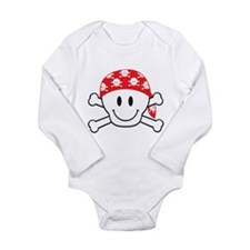 Happy Skull Long Sleeve Infant Bodysuit