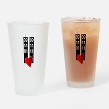 911 tenth heart Drinking Glass
