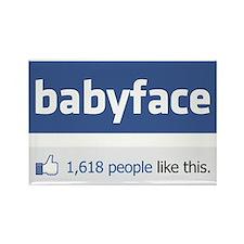 babyface funny parody Rectangle Magnet
