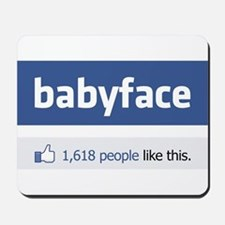 babyface funny parody Mousepad