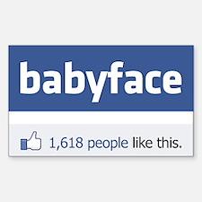 babyface funny parody Decal