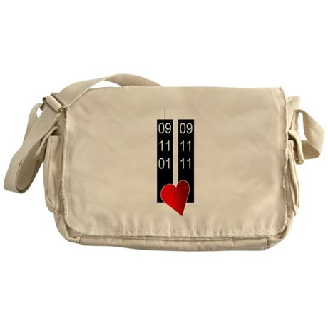 911 10th heart Messenger Bag