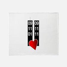 911 10th heart Throw Blanket