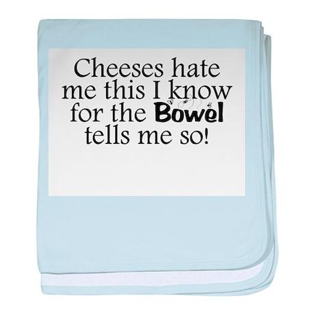 Cheeses Hate Me baby blanket