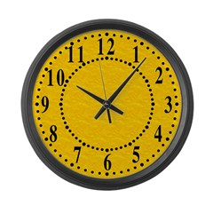 Textured Gold Look Large Wall Clock