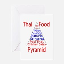 Thai Food Pyramid Greeting Card