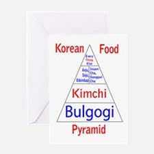 Korean Food Pyramid Greeting Card