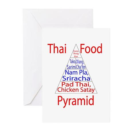 Thai Food Pyramid Greeting Cards (Pk of 10)