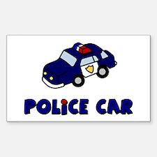 Police Car Rectangle Decal