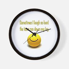 Laugh Hard Wall Clock