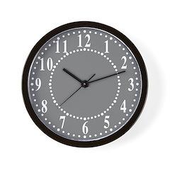 Dark Gray Linen Look Wall Clock