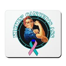 Kickin' Thyroid Cancer's Ass Mousepad