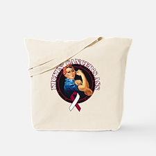 Kickin' Throat Cancer's Ass Tote Bag