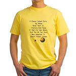 Pluto's Lament Limerick Yellow T-Shirt