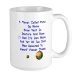 Pluto's Lament Limerick Large Mug
