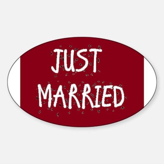 Cute Just married Sticker (Oval)