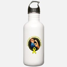 Kickin' Sarcoma Cancer's Ass Water Bottle