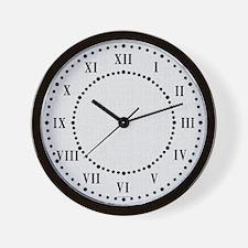 Gray Linen Look Wall Clock