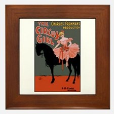 Circus Girl Framed Tile