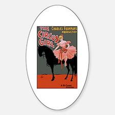 Circus Girl Oval Decal