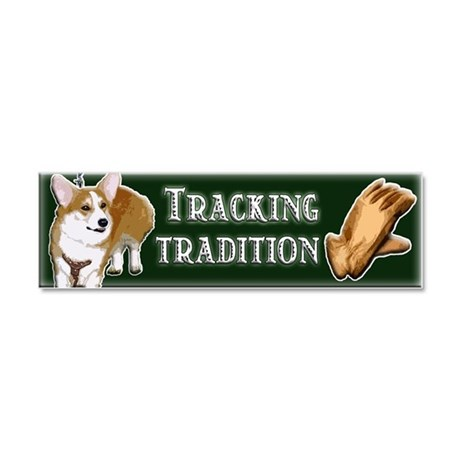 TRACKING TRADITION - Car Magnet 10 x 3