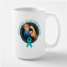 Kickin' Ovarian Cancer's Ass Mug