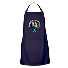 Kickin' Ovarian Cancer's Ass Apron (dark)