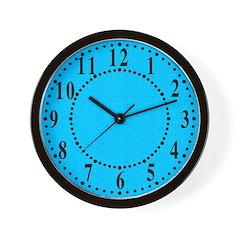 Cyan Linen Look Wall Clock