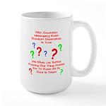 Uncertainty Principle Limeric Large Mug