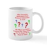 Uncertainty Principle Limeric Mug