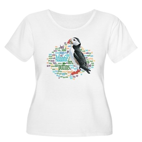 Puffins Women's Plus Size Scoop Neck T-Shirt