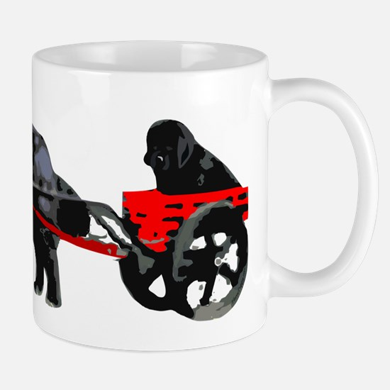 Newf Puppy in Draft Cart Mug