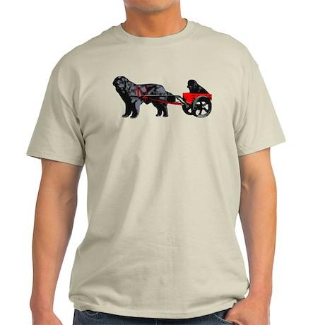 Newf Puppy in Draft Cart Light T-Shirt